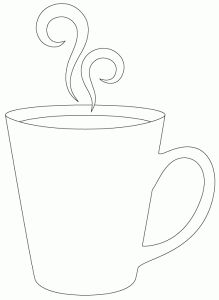 coffee cup template applique