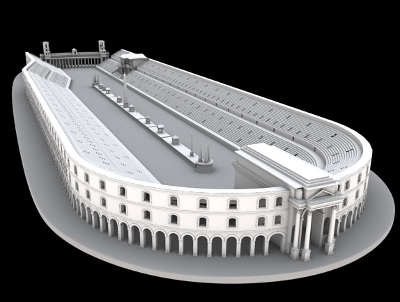 Rendering 3D of Circus Maximus II sec b.C.