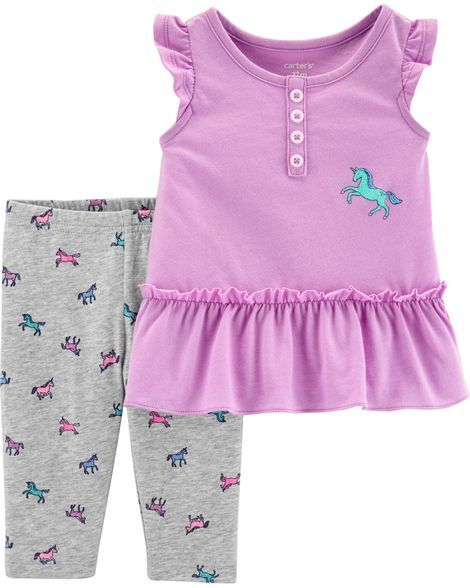 c3630a43c47bd Toddler Girl 2-Piece Unicorn Tank & Capri Legging Set from Carters.com.  Shop clothing & accessories from a trusted name in kids, toddlers, and baby  clothes.