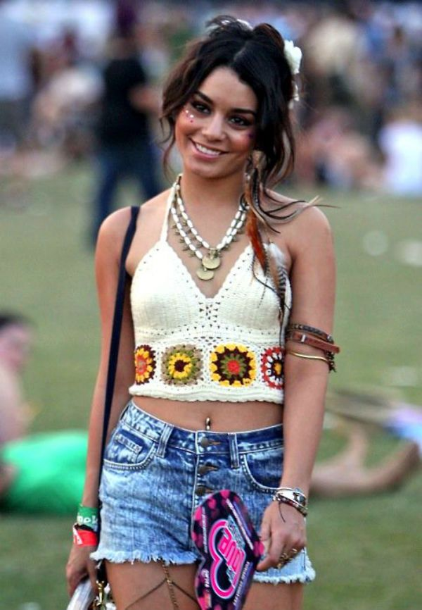 #VanessaHudgens is our #festival style icon, we want to be head-to-toe in boho #crochet! #Missguided