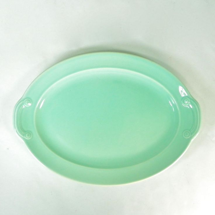 Lu-Ray Pastel Green Small Platter, Vintage Midcentury Dinnerware, Art Deco Style by OldRedHenVintage on Etsy