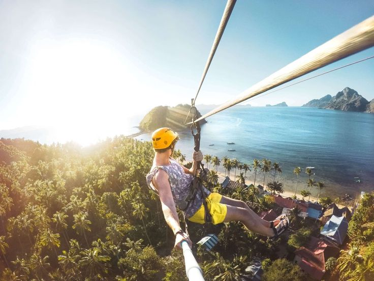 Looking for El Nido to do's. The El Nido zip line is a unique experience to get from one island to the other.