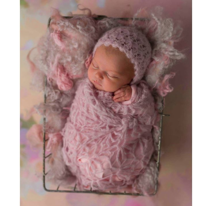 Newborn lace wrap and bonnet - newborn girl wrap set - beautiful lace baby girl photo prop - multiple colors - very soft alpaca wool by Amaiahandmade on Etsy