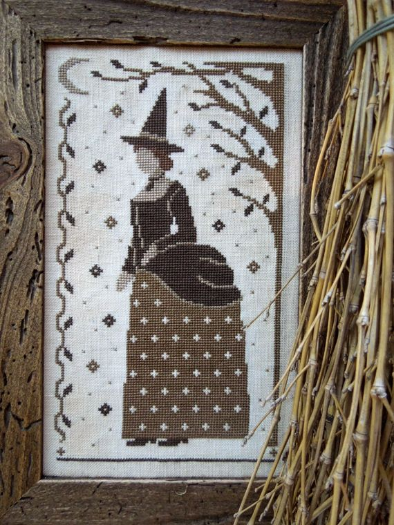 Victorian Witch, cross stitch pattern by The Little Stitcher