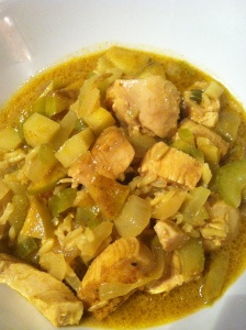 Chicken Mulligatawny--you don't see this everyday, but this traditional recipe is a healthy one-dish meal!