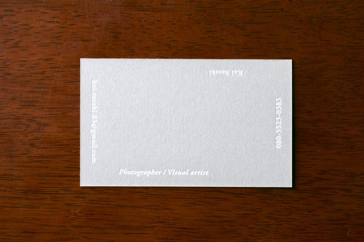 photographer / kai sasaki  Business card