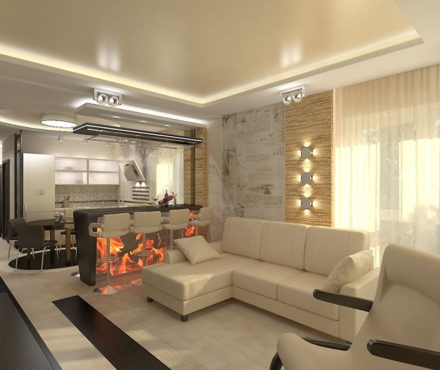 30 Einrichtungsideen für Wohnzimmer mit offener Küche ...