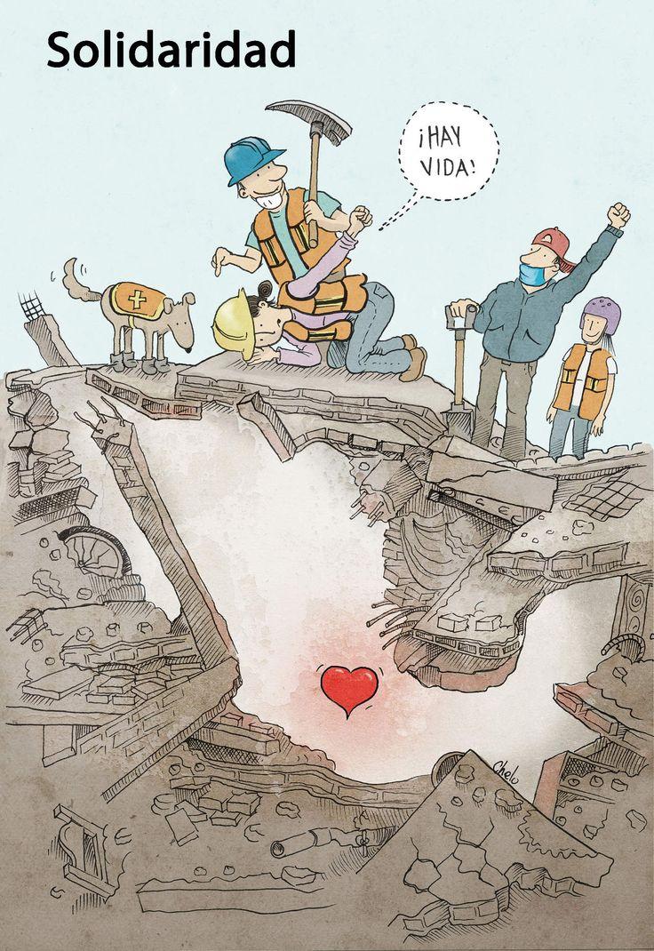 """Hoy Chelo nos presenta """"Solidaridad"""", sobre las labores de voluntariado en México tras el sismo de 7.1 que sacudió varios estados y dejó centenares de muertos."""
