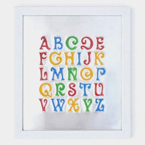 Buy Rickshaw Art Frame Alphabet Chart Wall Art at Tadpole Store