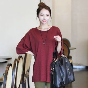 Republic of Korea reigning Women's Clothing Store [CANMART] Roll T / Size : FREE / Price : 15.33 USD #tshirts #roll #winered #korea #fashion #style #fashionshop #apperal #koreashop #missy #canmart