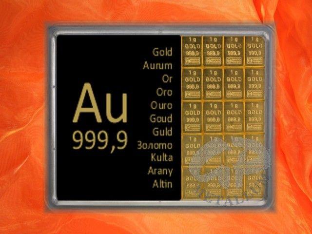 20 x 1 g Goldbarren, ideal zum Teilen http://www.gp-metallum.de/20-Gramm-Gold-Geschenkbarren-Au-international