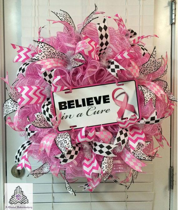 Believe In A Cure Breast Cancer Ruffle Deco by AQuaintHaberdashery, $110.00