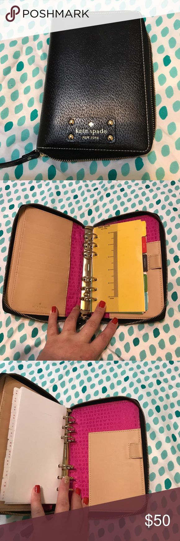 Kate Spade Wellesley planner Brand new condition. Needs 2017 calendar inserts. Black. kate spade Accessories