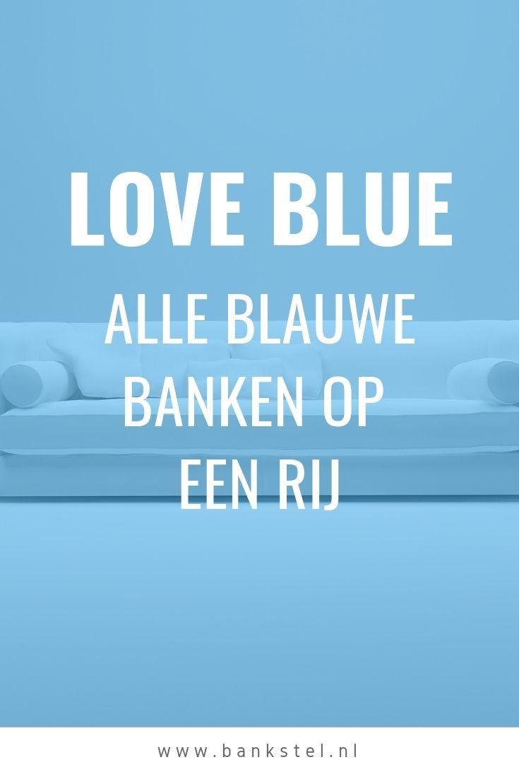 Hoekbank Leer Blauw.Op Zoek Naar Een Blauw Bankstel Een Hoekbank Bankstel 3 Zits