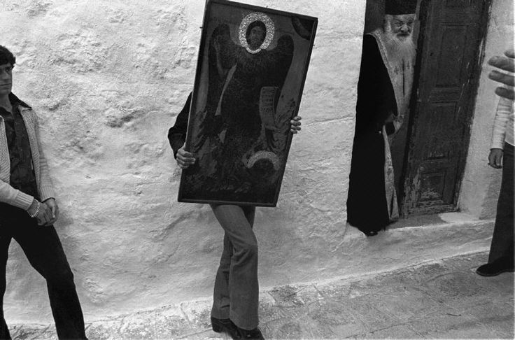 Patmos island. Easter celebrations. 1989. Nikos Economopoulos.