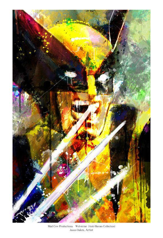 New Wolverine Art Panel Archival Quality 11x17 Art by j2artist