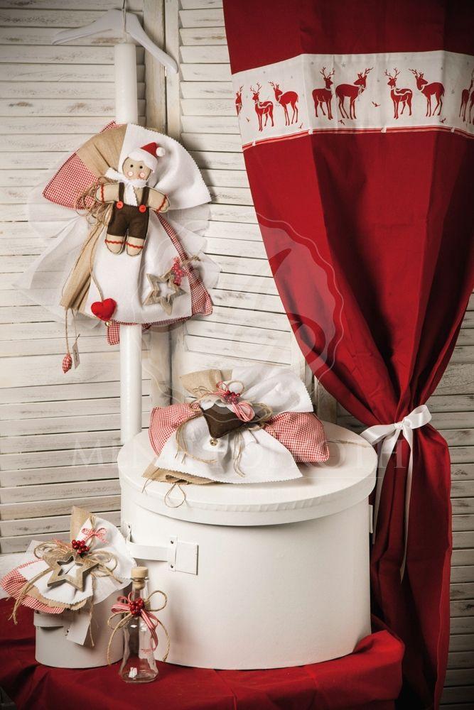 Μένη Ρογκότη - Χριστουγεννιάτικο σετ βάπτισης για αγόρι ζυμαρούλης Άγιος Βασίλης