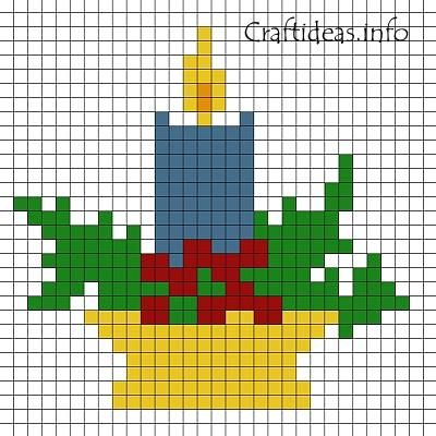 Free Perler Bead Patterns   beads pattern christmas candle print out this fuse bead candle pattern ...