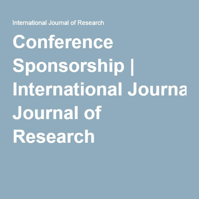 Conference Sponsorship | International Journal of Research