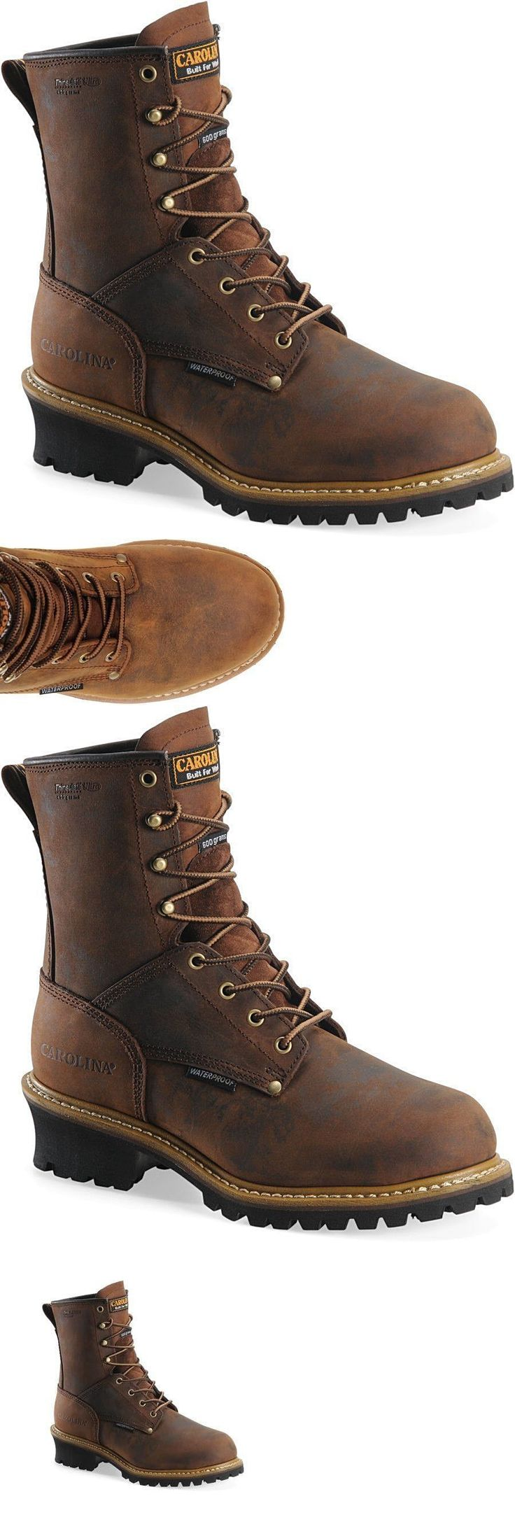 Occupational 11501: Carolina Men Boots Waterproof Insulated Logger Steel Toe Leather Work And Safety -> BUY IT NOW ONLY: $125.99 on eBay!