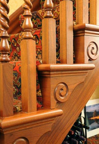 Sapele Cut String Staircase