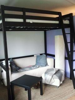 29 best loft bed images on pinterest. Black Bedroom Furniture Sets. Home Design Ideas
