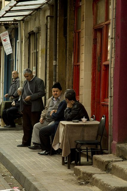 Turkish coffeehouse in Balat, Istanbul.