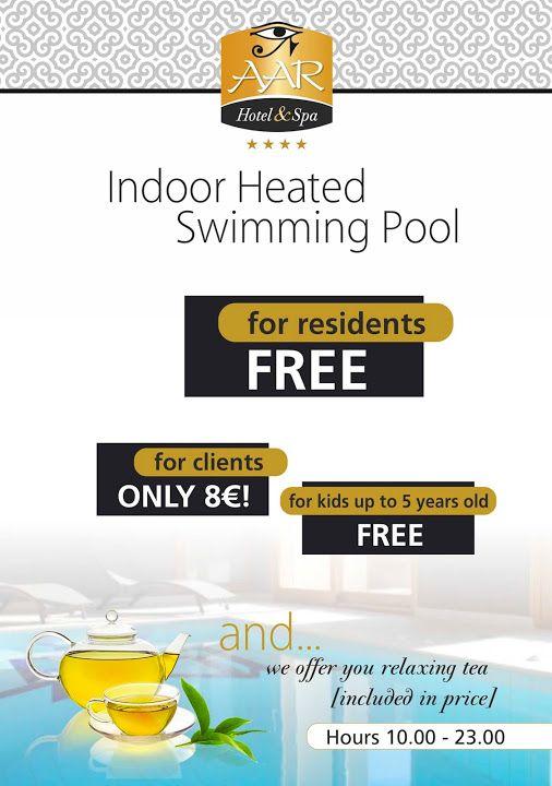 Εσωτερική θερμαινόμενη πισίνα... #Mustdo ... www.aarhotel.gr/pool #Indoorpool #Hotwater #Aarhotel #Ioannina #Epirus