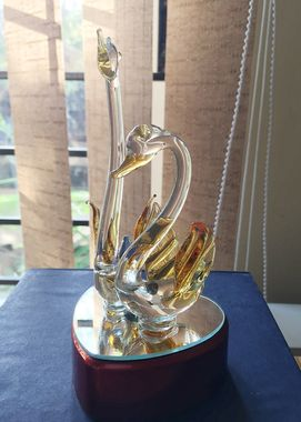 #Beautiful #Crystal Swan Pair #Showpiece @ReturnFavors  #Decorate your #home with these #art . http://www.returnfavors.com/search.php?search_query=swan+pair&Search=