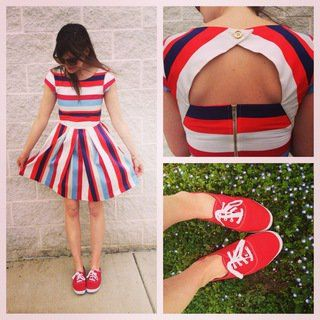 Nautical in the World Dress #ModCloth 4th of July | Independence Day | USA
