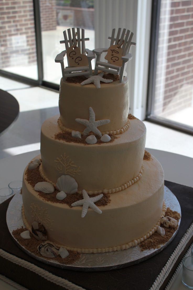 19 Best Beach And Ocean Theme Wedding Cakes Images On Pinterest Anniversary Cakes Cake