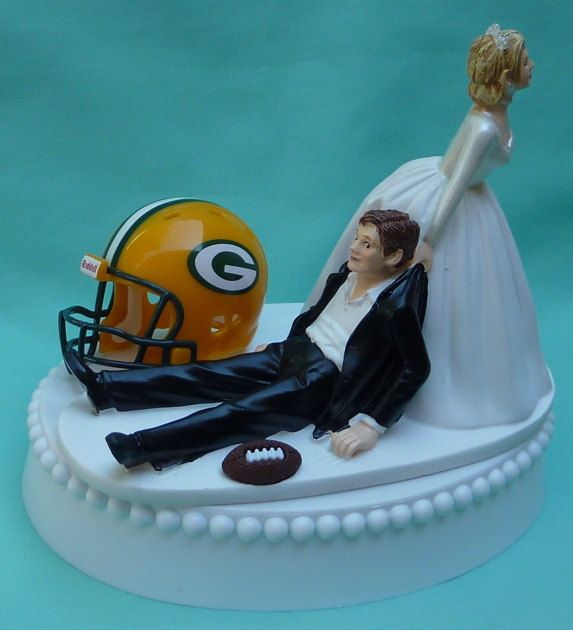 Wedding Cake Topper Green Bay Packers GB Football Themed by WedSet, $59.99