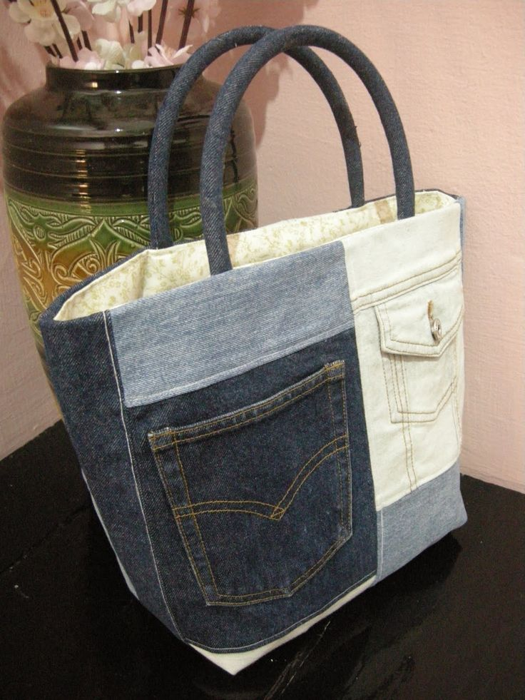 Love the patch work effect. BAG YOUR JEANS @ http://haveheartdaily.net/bag-your-jeans.html                                                                                                                                                      More