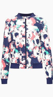 #Esprit Damen Bomberjacke mit Print, Baumwolle/Stretch, Gr. XL, , 4059602954071