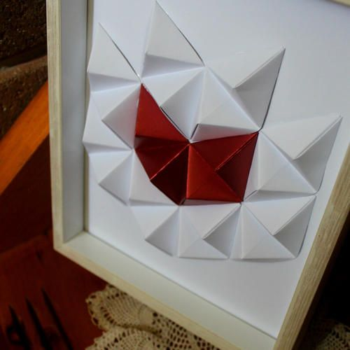 Geometric Wall Art - Paper Heart