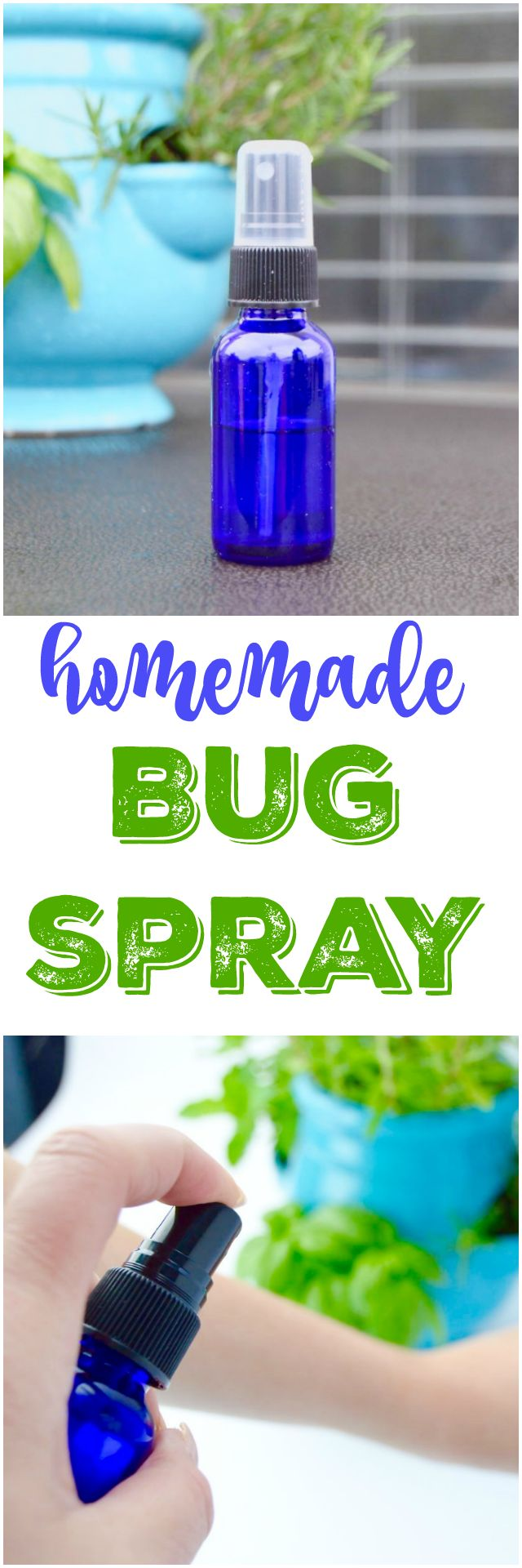 Easy homemade bug spray recipe. DIY your own chemical free bug spray that is safe for kids and the environment too. A simple recipe using household ingredients and essential oils. via @Mom4Real