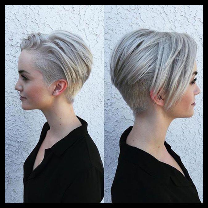 Kurzhaarfrisuren Damen Grau Undercut 2019 Aktuelle Frisuren Frauen Schone Frisuren Kurzhaarschnitte Frisuren Haarschnitt Kurz