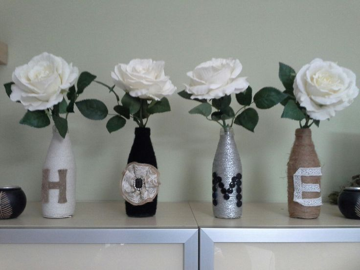 DIY Recycle empty bottles into a beautiful home decor