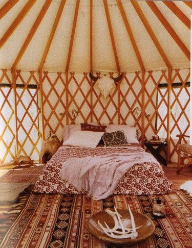 Yurt Bedroom-Awesome: Decor, Idea, Dream, Yurt Bedroom Awesome, Yurts, Yurt Interior, Bedrooms, Yurt Living, House