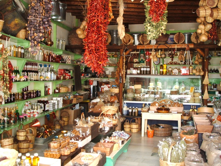 Traditional spice shop in the village of Apiranthos