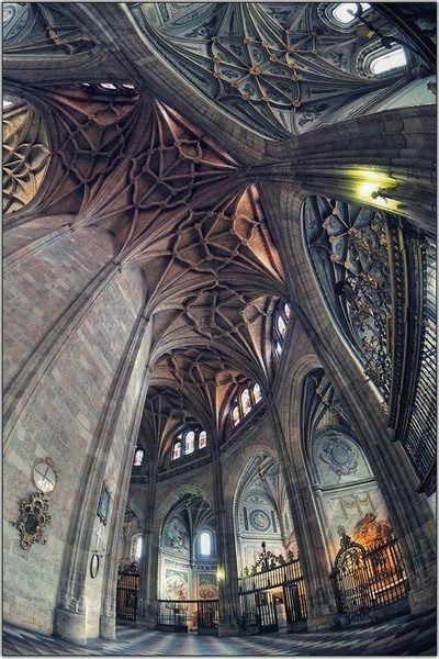 Interior of Segovia Cathedral, Spain