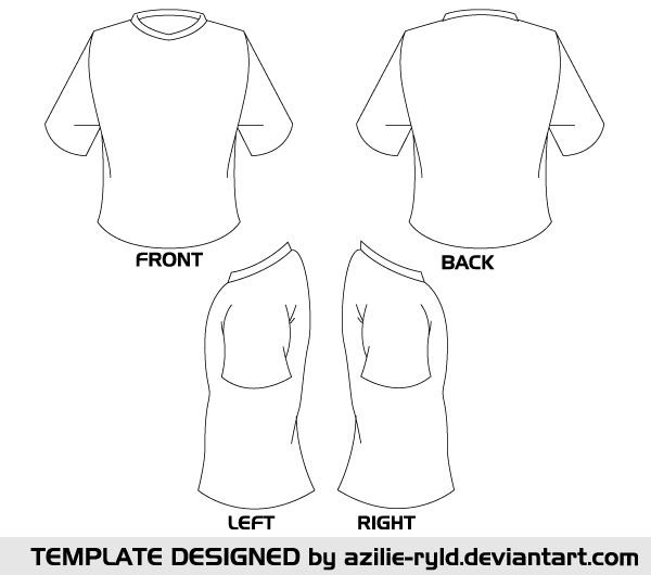 Blank Tshirt Template Vector Front and Back Photos / Sculptures