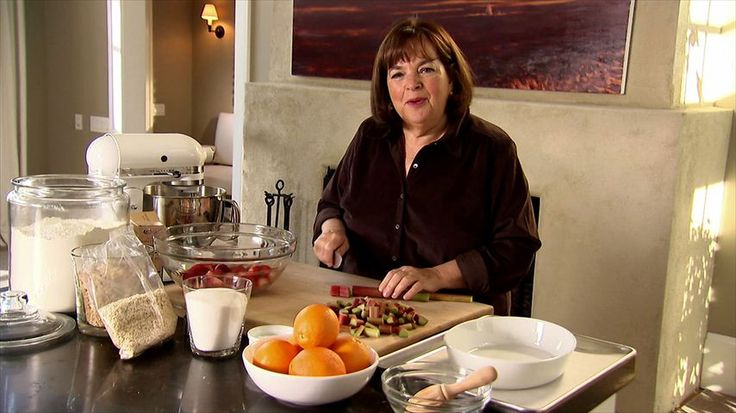 Strawberry Rhubarb Crisp Recipe : Ina Garten : Food Network