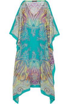 Etro Paisley-print silk-chiffon kaftan | NET-A-PORTER