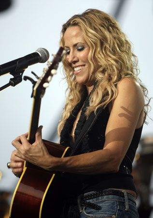 Sheryl Crow.  Saw her perform at the Mann Music Center.  I love her.  Think we have at least 2 copies of all her CDs.
