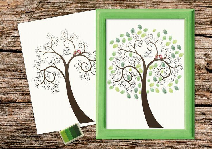 Guestbook per impronte digitali idee matrimonio marg for Idee per le stanze degli ospiti