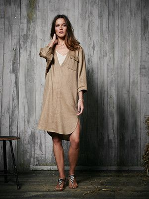 118 0214 B_Shirtkleid - Oversize-Look Hemdkleid