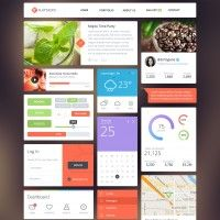 14 Free App and Web Design GUI Kits