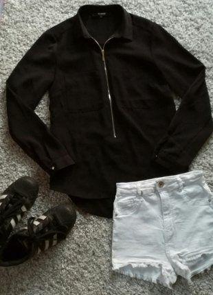 Kup mój przedmiot na #vintedpl http://www.vinted.pl/damska-odziez/koszule/16118842-czarna-koszula-z-kolnierzykiem