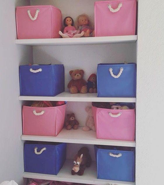 Cajas decorativas, jugueteros de colores. Se hacen a la medida.